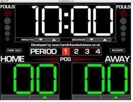 Download virtual basketball scoreboard software: basketball.
